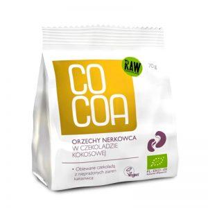 Kešu v kokosovej RAW čokoláde 45 % BIO 70 g Cocoa