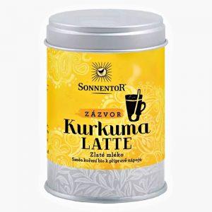 Kurkuma Latte Zázvor BIO dóza 60g Sonnentor Zlaté mlieko