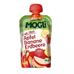 Ovocné pyré Moothie jablko, banán, jahoda BIO Demeter 100g Mogli uzatvárateľný obal