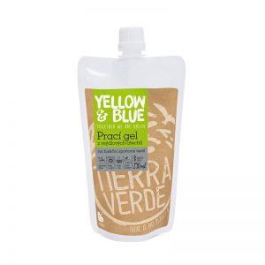 Prací gél z mydlových orechov na funkčný športový textil s koloidným striebrom 250 ml Yellow & Blue - Tierra Verde