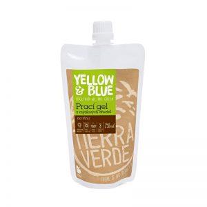 Prací gél z mydlových orechov na vlnu a funkčný textil z merino vlny 250 ml Yellow & Blue - Tierra Verde