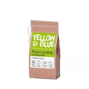 Prací prášok z mydlových orechov na bielu bielizeň a látkové plienky 250 g Yellow & Blue - Tierra Verde