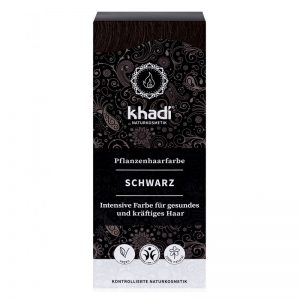 Rastlinná farba na vlasy Čierna 100 g Khadi