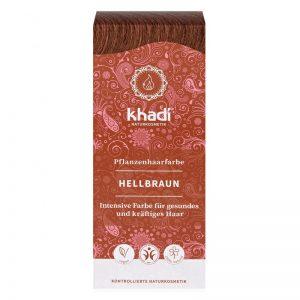 Rastlinná farba na vlasy Svetlo hnedá 100 g Khadi