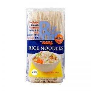 Rezance ryžové 3mm 400g Mama bezlepkové cestoviny plastový sáčok