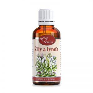 Tinktúra zo zmesi pupeňov - Žily a lymfa 50 ml Serafin