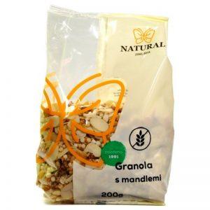 bezlepková granola s mandľami 200g natural jihlava