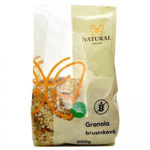 granola bezlepková brusnicová 200g natural jihlava