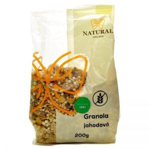 granola bezlepková jahodová 200g natural jihlava