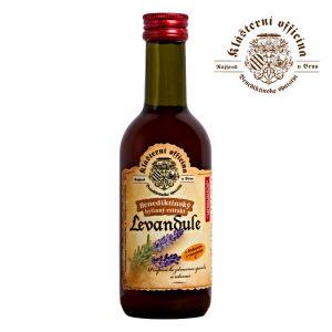benediktínsky bylinný sirup levanduľa 290g klášterní oficína sklenená fľaša