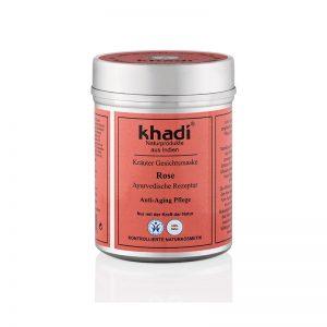 Bylinná pleťová maska Rose proti starnutiu pleti 50 g Khadi