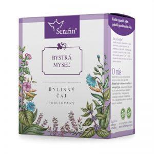 Bystrá myseľ - bylinný čaj porciovaný 15 x 2,5 g Serafin