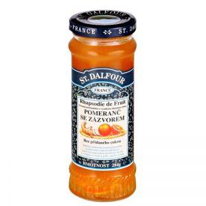 Ďžem bez cukru pomaranč so zázvorom 284g dalfour sklenená fľaša