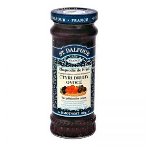 Ďžem bez cukru štyri druhy ovocia 284g dalfour sklenená fľaša