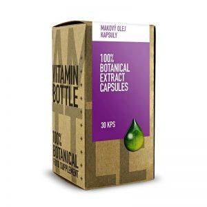 MAKOVÝ OLEJ 30 kapsúl Vitamin Bottle