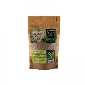 Mletá zelená káva arabica 100g PURE WAY sáčok