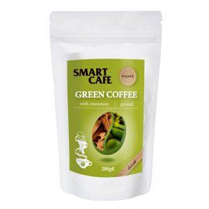 Zelená káva Arabica so škoricou Decaf BIO 200g Dragon Superfoods