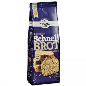 bezlepková zmes na rýchly tmavý chlieb BIO 475g bauckhof