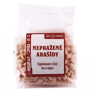 Arašidy lúpané nepražené BIO 200 g BioNebio