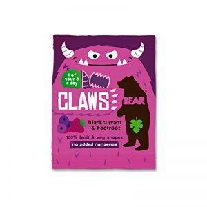 Claws želé pazúriky Čierne ríbezle a Cvikla 18g Bear bezlepkové vegán