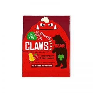 Claws želé Pazúriky jahody a tekvica 18g Bear bezlepkové