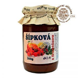 Džem šípkový s fruktózou 300g klášterní oficína sklenená fľaša