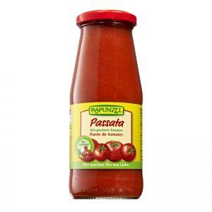 Passata drvené paradajky BIO 410g Rapunzel sklenená fľaša