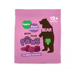 Paws želé labky Jablko a Čierne ríbezle 20g Bear bezlepkové vegán