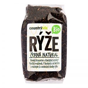 Ryža čierna natural BIO 500g Country Life plastový sáčok