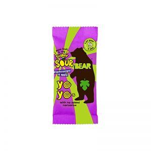 Yoyo želé Super kyslé Čierne ríbezle a Jablko 20g Bear bezlepkové vegan
