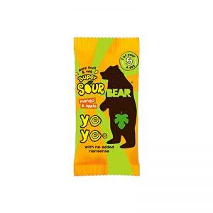 Yoyo želé Super kyslé Mango a Jablko 20g Bear bezlepkové vegán