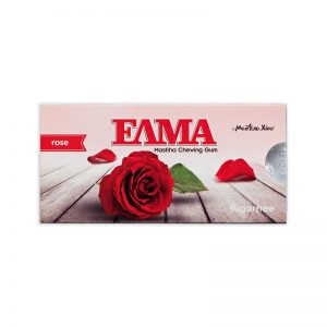 Žuvačky s mastichou Ruža bez cukru 10ks Elma blister dražé