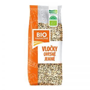 Vločky ovsené jemné Bioharmonie BIO 500g PROBIO