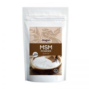 MSM prášok bioaktívna forma síry 200g Dragon Superfoods