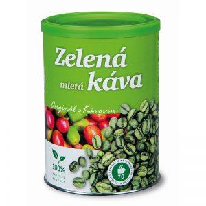 Zelená káva mletá dóza 230g Kávoviny a.s.