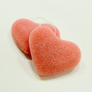 KONJAC Ružová špongia Srdiečko - Manzana