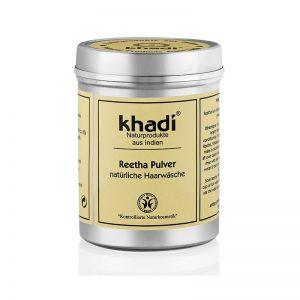 Šampón Reetha - jemný prášok z mydlových orechov 150 g Khadi