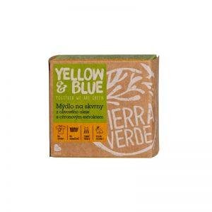 Mydlo na škvrny z olivového oleja Citrón 200 g Yellow & Blue - Tierra Verde